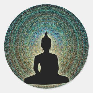Mandala Runder Aufkleber