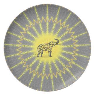 Mandala Stammes- Elefant Teller