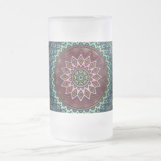 Mandala-Tasse Mattglas Bierglas