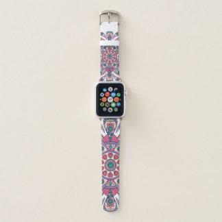 Mandala Tiga ursprüngliches lila Weiß Apple Watch Armband