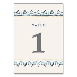Mandala-Tischnummer - aquamarin Karte