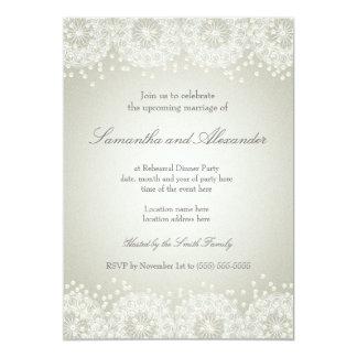 Mandala-u. der Perlen-| Wedding Proben-Abendessen Karte