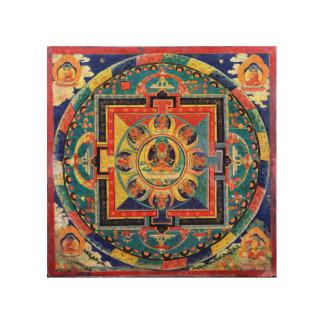 Mandala von Amitayus Tibet 19. Jahrhundert Kunst Holzdruck