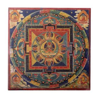 Mandala von Amitayus. Tibetanische Schule des 19. Fliese