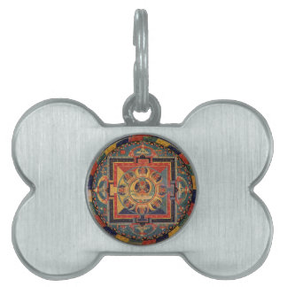 Mandala von Amitayus. Tibetanische Schule des 19. Tiermarke