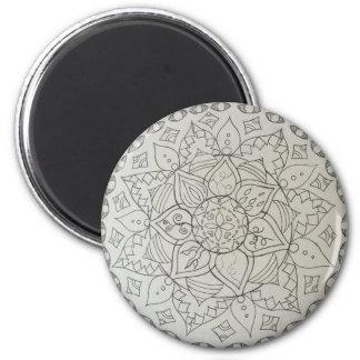 Mandalaelemente Runder Magnet 5,7 Cm