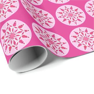 Mandalamuster in rosa, in der Fuchsie und im Weiß Geschenkpapier