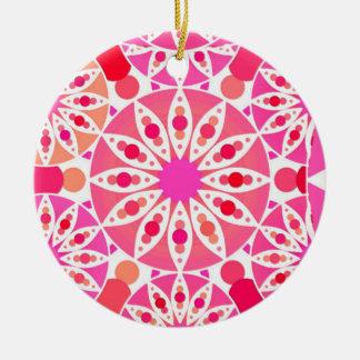 Mandalamuster, Schatten des Rosas und Koralle Keramik Ornament