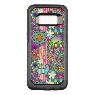 Mandalas-, Katzen-u. Blumen-Fantasie-Muster OtterBox Commuter Samsung Galaxy S8 Hülle