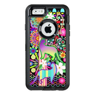 Mandalas-, Katzen-u. Blumen-Fantasie-Muster OtterBox iPhone 6/6s Hülle