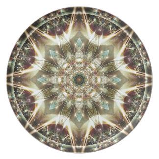 Mandalas vom Herzen von Änderung 10, Melaminteller