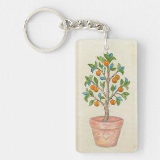 Mandarine-Baum keychain Schlüsselanhänger