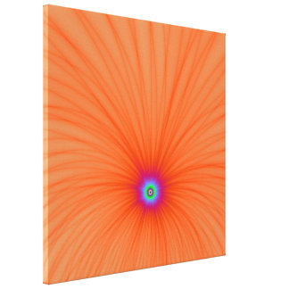 Mandarine-Farbexplosions-Leinwand-Druck Leinwanddruck