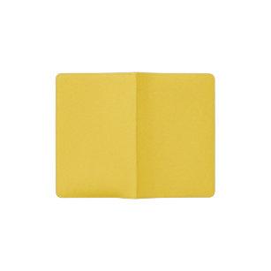 Mandarine-gelber Stern-Staub Moleskine Taschennotizbuch