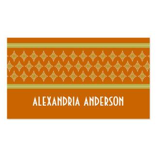 Mandarine-göttliche Diamant-Geschäfts-Karten Visitenkartenvorlage