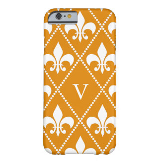 Mandarine-Lilie mit Monogramm Barely There iPhone 6 Hülle