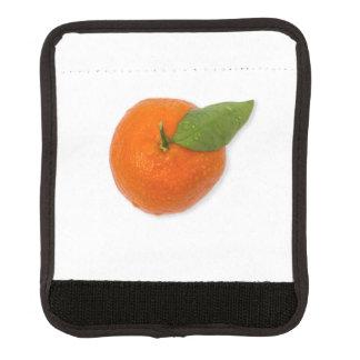 Mandarine mit grünem Blatt Gepäck Markierung