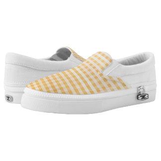 Mandarine Ombre Gingham Slip-On Sneaker
