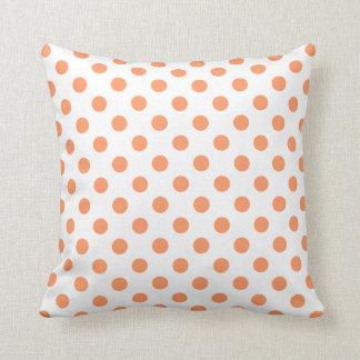 Mandarine-orange Polka-Punkt-Kreise Kissen