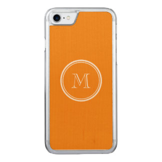 Mandarine-Spitzen gefärbt Carved iPhone 8/7 Hülle