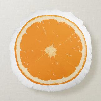 Mandarine-träumerische Zitrusfrucht-rundes Kissen