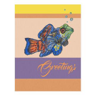 Mandarinfish Grüße Postkarte