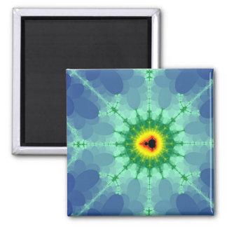 Mandel auf einem Lilly Auflage-Magneten Quadratischer Magnet