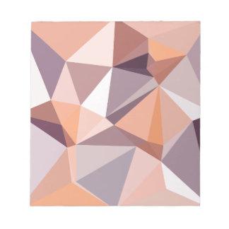 Mandel-beige abstrakter niedriger notizblock