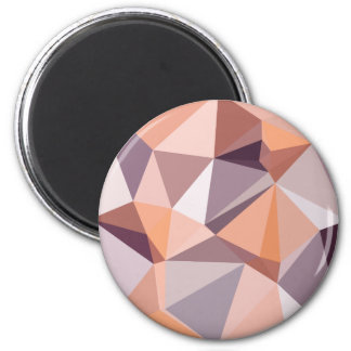 Mandel-beige abstrakter niedriger runder magnet 5,7 cm