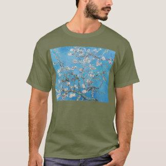 Mandel blüht blaue Vincent van Gogh-Kunst-Malerei T-Shirt