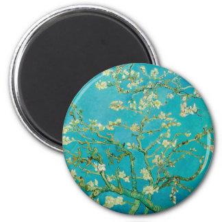 Mandel-Blüten durch Vincent van Gogh (1890) Runder Magnet 5,7 Cm