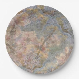 Mandel-Blüten-Tapisserie-Papier-Teller Pappteller