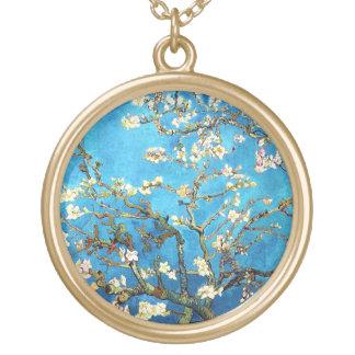 Mandelbaum-schöne Kunst Van Gogh blühende Vergoldete Kette