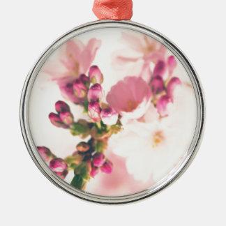 Mandelblüten Art Silbernes Ornament