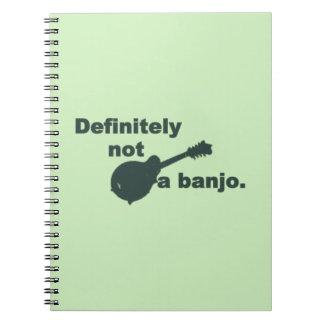 Mandoline -- Bestimmt nicht ein Banjo Spiral Notizblock