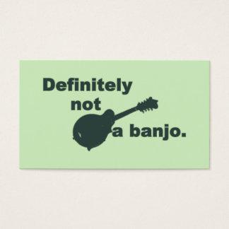 Mandoline -- Bestimmt nicht ein Banjo Visitenkarte