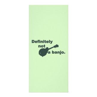 Mandoline -- Bestimmt nicht ein Banjo Werbekarte