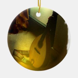 Mandolinen-Baum Keramik Ornament