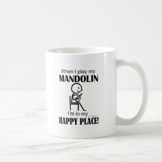 Mandolinen-glücklicher Platz Kaffeetasse