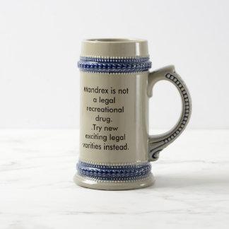 Mandrex ist nicht eine legale entspannende Droge. Bierglas