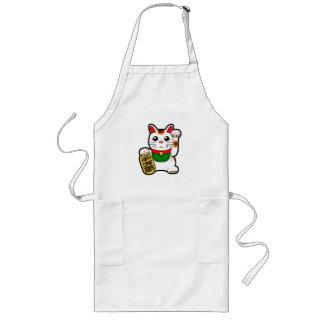 Maneki Neko: Japanische glückliche Katze Lange Schürze