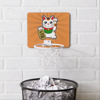 Maneki Neko: Japanische glückliche Katze Mini Basketball Netz