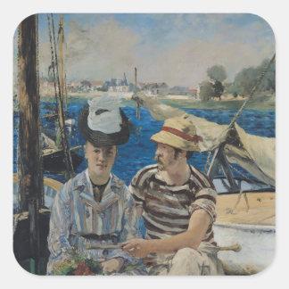 Manet | Argenteuil, 1874 Quadratischer Aufkleber