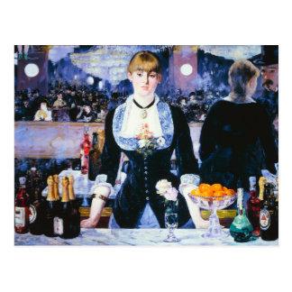 Manet Bar an der Folies Bergere Postkarte