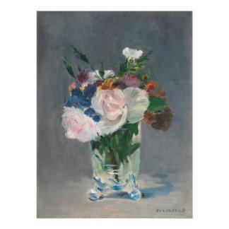 Manet | Blumen in einem Kristallvase, c.1882 Poster