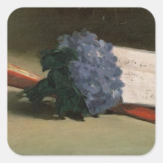 Manet | Blumenstrauß der Veilchen, 1872 Quadratischer Aufkleber