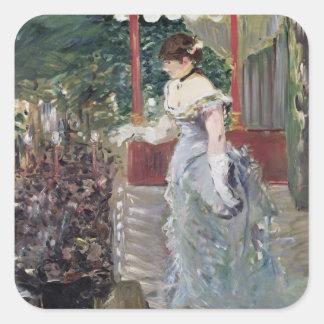 Manet | Café-Konzert, 1879 Quadratischer Aufkleber