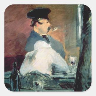 Manet | das Bar, 1878-79 Quadratischer Aufkleber