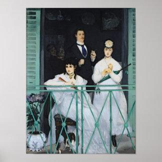 Manet   der Balkon, 1868-9 Poster