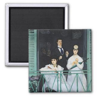 Manet   der Balkon, 1868-9 Quadratischer Magnet